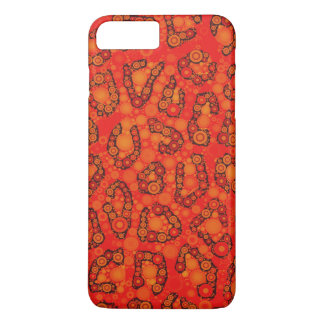Florescent Orange Red Cheetah Abstract iPhone 7 Plus Case