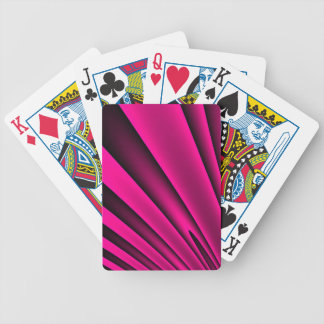 Florescent Pink Black Stripe Pattern Bicycle Playing Cards