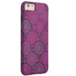 Florescent Pink Bluish Circle Abstract Tough iPhone 6 Plus Case