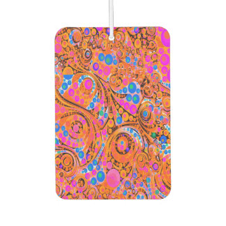 Florescent Pink Orange Abstract Air Freshener