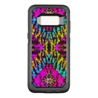 Florescent Pink Turquoise Abstract OtterBox Commuter Samsung Galaxy S8 Case