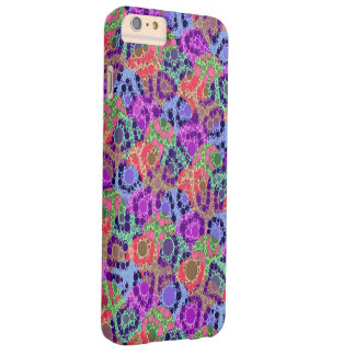 Florescent Purple Blue Cheetah Abstract Barely There iPhone 6 Plus Case