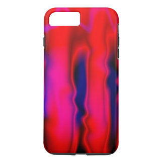 Florescent Red Blue Abstract iPhone 7 Plus Case