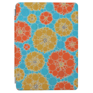 Florescent Turquoise Orange Abstract Flowers iPad Air Cover