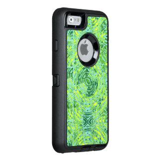 Florescent Yellow Turquoise Zebra OtterBox Defender iPhone Case