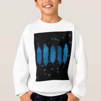 Floressence Baby Blue Feathers Sweatshirt