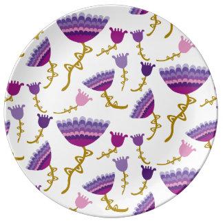 Florets Plum Plate