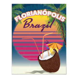 Florianópolis Brazilian travel poster Card