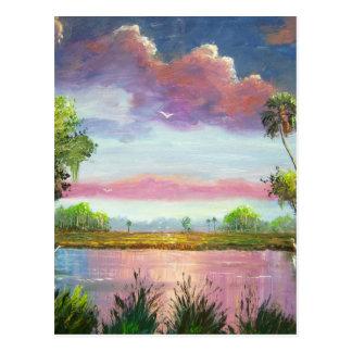 Florid Wild Blue Herons Postcard