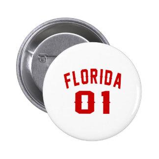 Florida 01 Birthday Designs 2 Inch Round Button