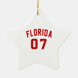 Florida 07 Birthday Designs Ceramic Star Ornament