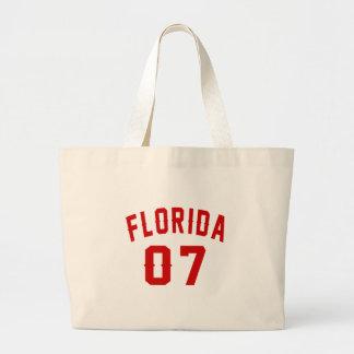 Florida 07 Birthday Designs Large Tote Bag