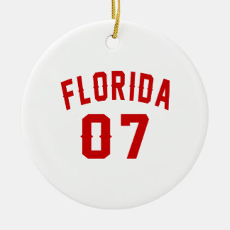 Florida 07 Birthday Designs Round Ceramic Ornament