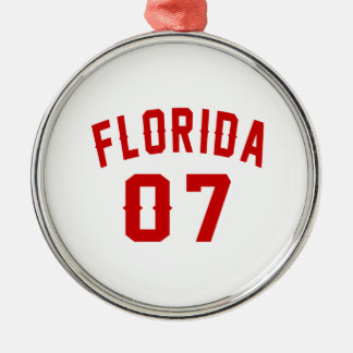 Florida 07 Birthday Designs Silver-Colored Round Ornament