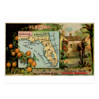 Florida, 1889 vintage card postcard
