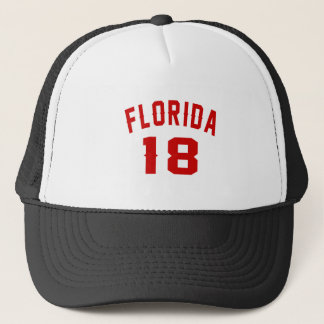 Florida 18 Birthday Designs Trucker Hat