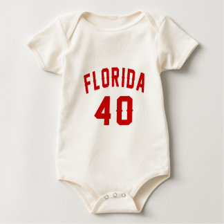 Florida 40 Birthday Designs Baby Bodysuit