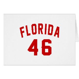 Florida 46 Birthday Designs Card