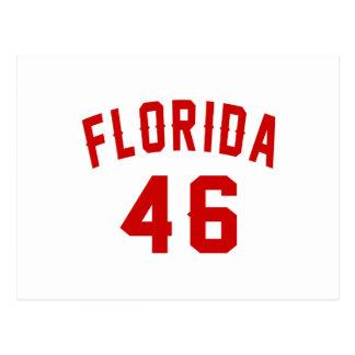 Florida 46 Birthday Designs Postcard