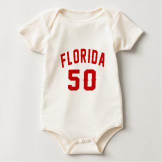 Florida 50 Birthday Designs Baby Bodysuit