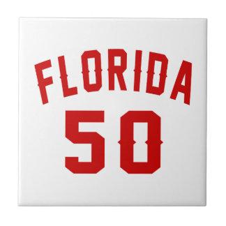 Florida 50 Birthday Designs Ceramic Tiles