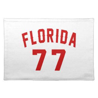 Florida 77 Birthday Designs Placemat