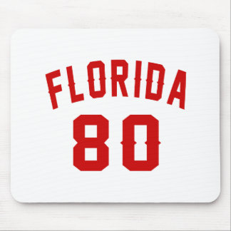 Florida 80 Birthday Designs Mouse Pad