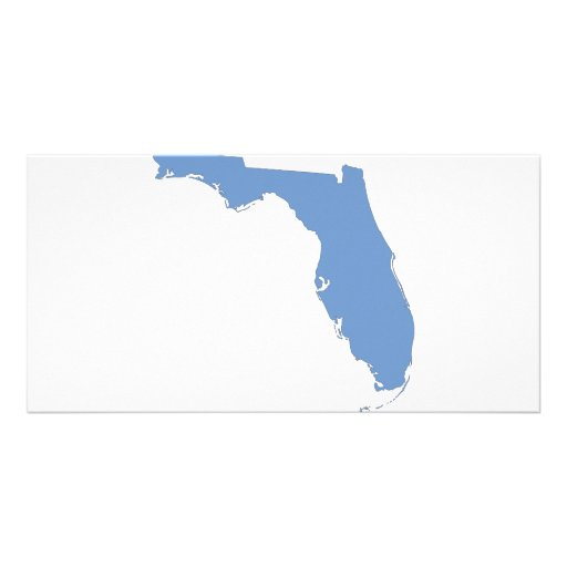 Florida - a blue state picture card