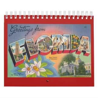 FLORIDA, a Vintage Year Calendar