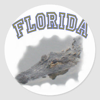 Florida alligator classic round sticker