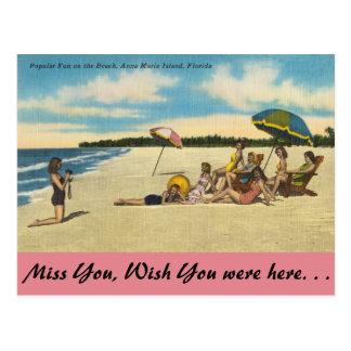 Florida, Anna Maria Island, fun on the Beach Postcard