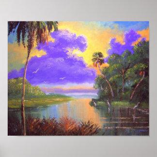 Florida Backwoods River Poster