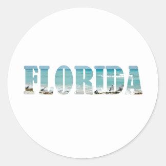 Florida Beach Classic Round Sticker