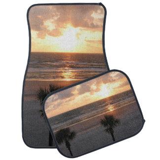 Florida Beach Palms At Sunrise Car Mats