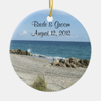 Florida Beach Wedding Ornament
