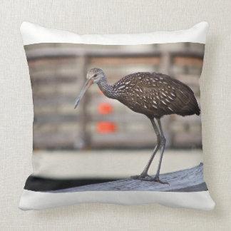 Florida Bird - Throw Pillow - Limpkin