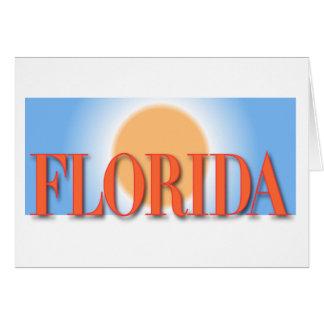 Florida Blue & Orange Sunset Card