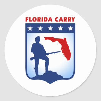 Florida Carry Gear Classic Round Sticker