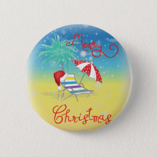 Florida-Christmas Holiday-Whimsical 2 Inch Round Button