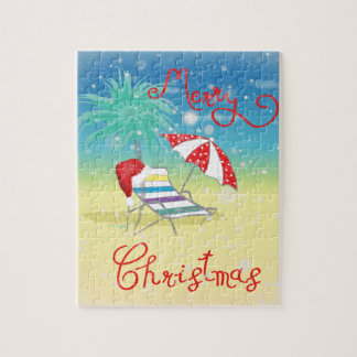 Florida-Christmas Holiday-Whimsical Jigsaw Puzzle