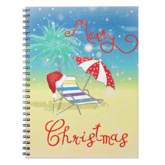 Florida-Christmas Holiday-Whimsical Notebook