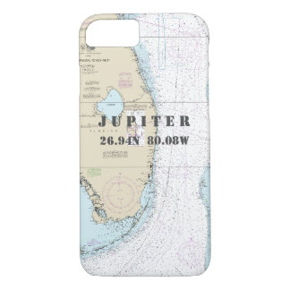 Florida Coast Latitude Longitude Nautical Chart iPhone 7 Case