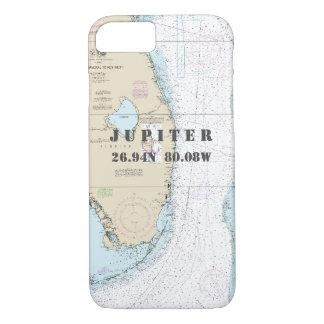 Florida Coast Latitude Longitude Nautical Chart iPhone 8/7 Case
