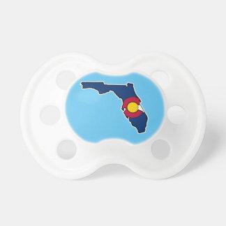 Florida Colorado flag baby pacifier