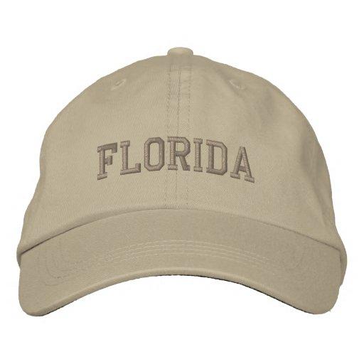 Florida Embroidered Adjustable Cap Khaki Baseball Cap