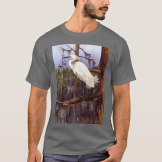 FLORIDA EVERGLADES HERON PAINTING T-Shirt