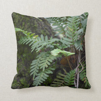 florida ferns and moss  oak tree nature landscape throw pillow