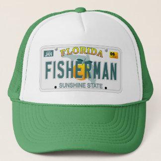 Florida Fisherman license plate hat
