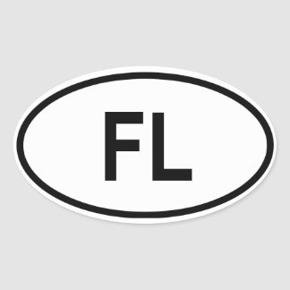 "Florida ""FL"" Oval Sticker"