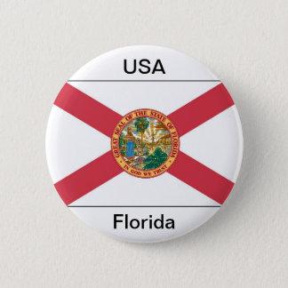 Florida flag 2 inch round button